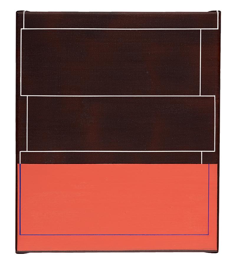 Inez Smit2017 n.t (I red) 33 x 28 cm acrylic on canvas 2017