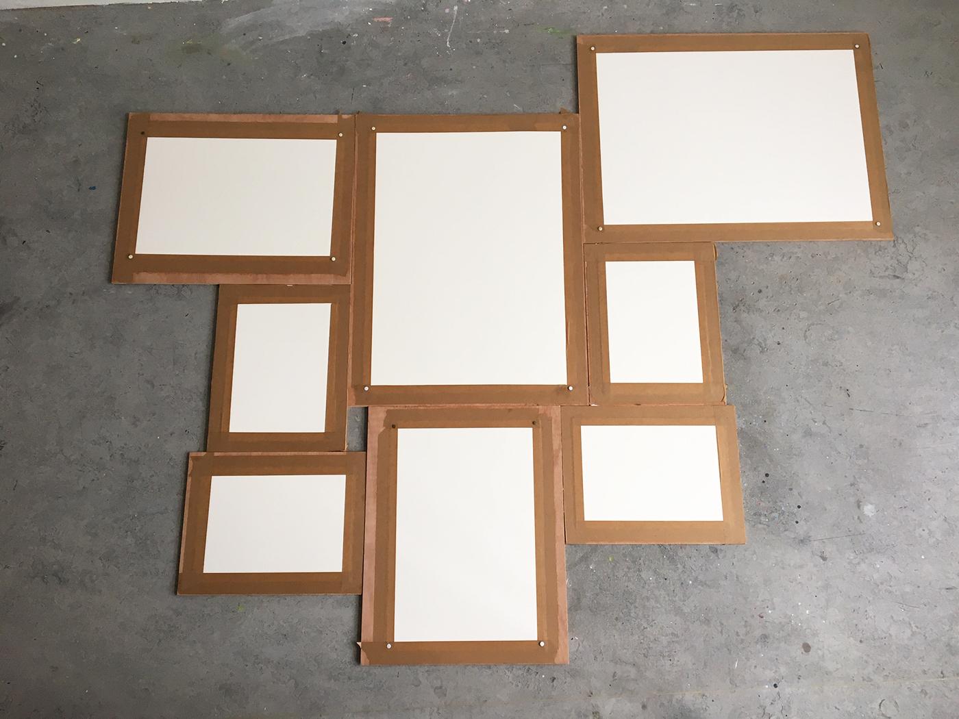 opgespannen aquarelpapier