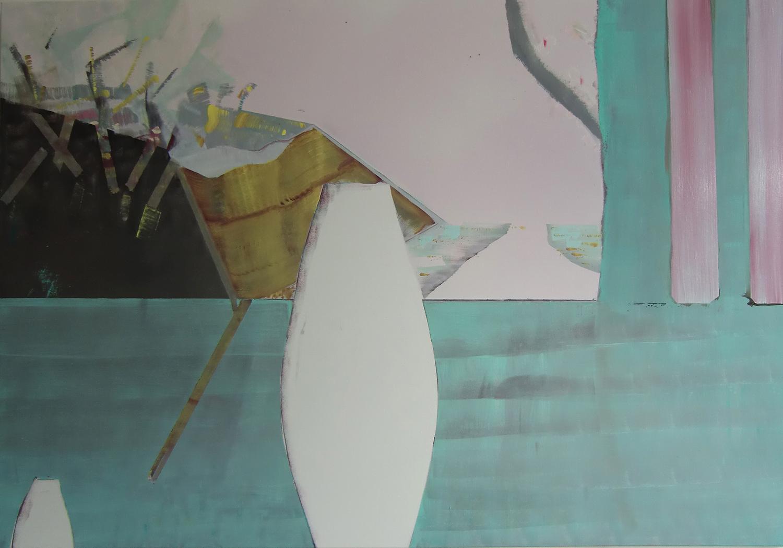 1e versie schilderij 2010 olieverf op linnen 130 x190cm