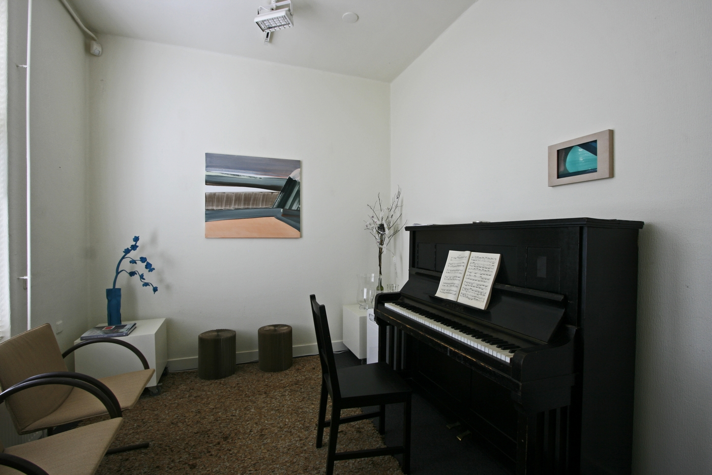 the piano room with a painting and a watercolor [Marena Seeling]