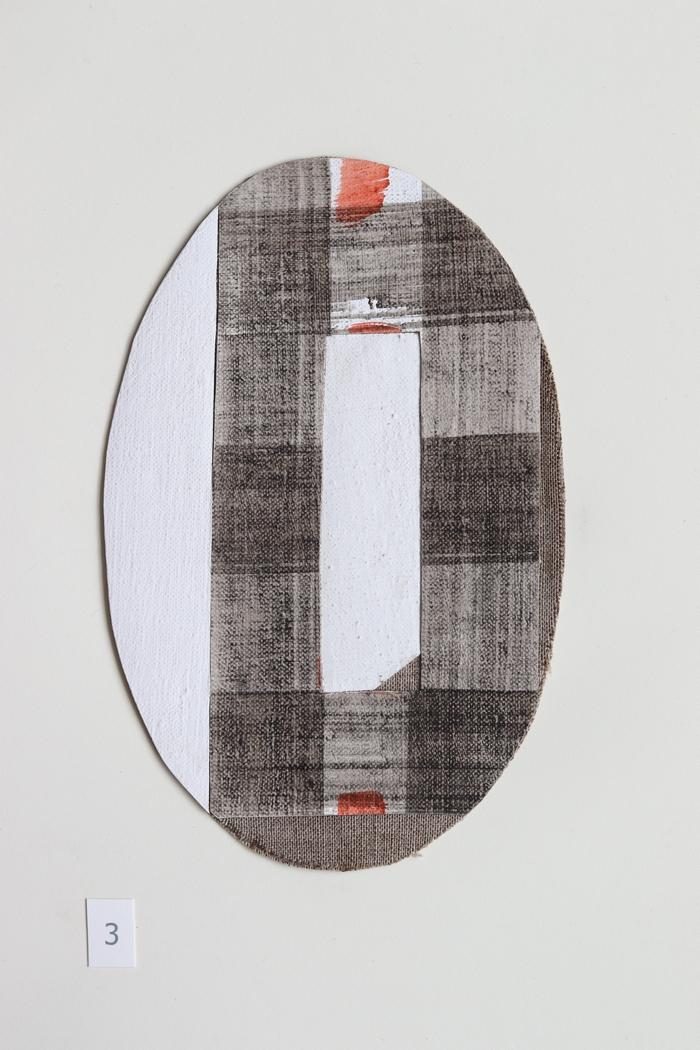 ovaal 3 - collage - 2020 - olieverf op linnen - 17x11cm